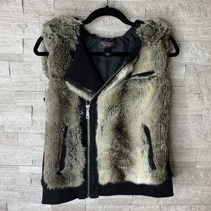 Victoria's Secret Faux Fur Vest Jacket; Size S